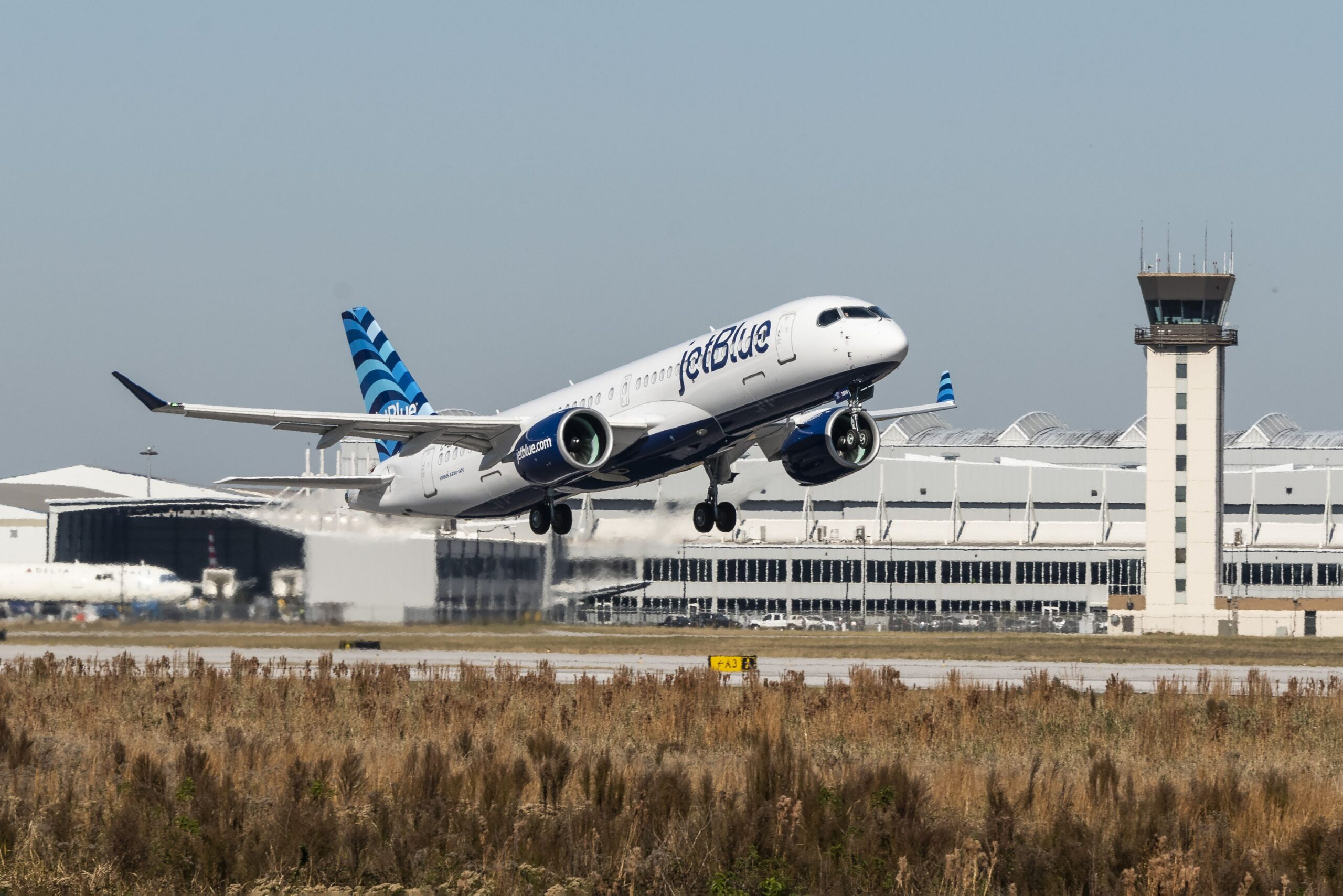 "JetBlue's First A220 ""Hops"" Into The Air"