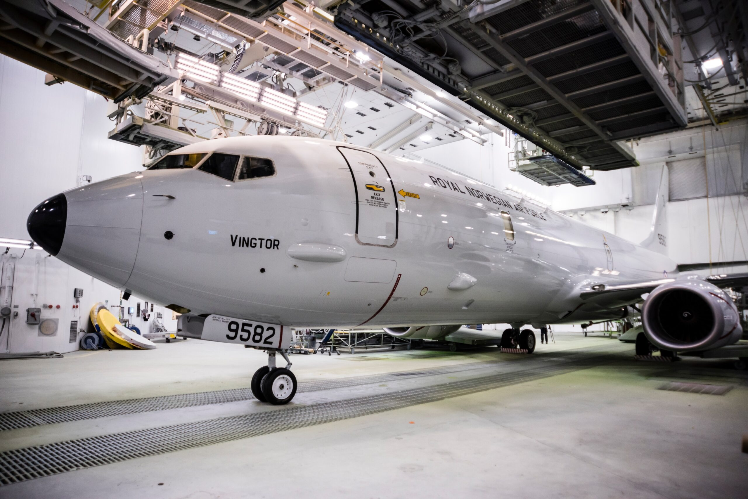 Norway's First P-8A Poseidon Rolls out of the Paint Shop